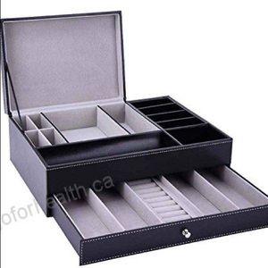 Jewelry box leather